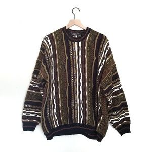Other - Vintage 90's Coogi Style Textured 3D Knit Sweater